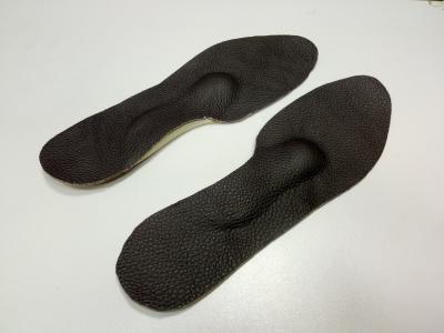 Стельки ортопедические с мягким сводом кожа