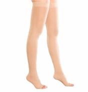 Чулки VENOTEKS 2 класс, плотные, открытый носок