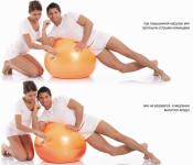 Мяч гимнастический 55см с ABS Тривес М-255